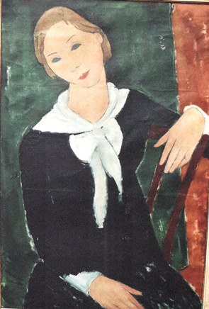 Portrait Frau Dr. Husten, Öl auf Leinwand, 80 x 54 cm, 1930, signiert 'Esser'.