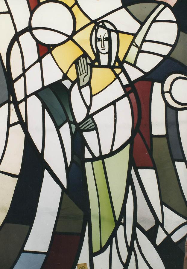 Auferstehungsengel. Glasbild (ausgeführt in der Mayer'schen Hofkunstanstalt, München).